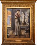 Edward Burne-Jones (Edward Burne Jones) (1833-1898)  Pygmalion and the Image: I - The Heart Desires  Oil on canvas, 1875-1878  76.3 x 99 cm (30.04